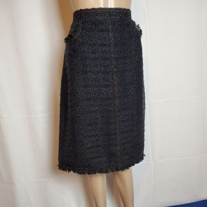 Tory Burch ARIA  Tweed Skirt size 10